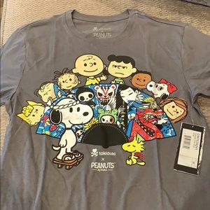 Tokidoki peanuts gray t shirt